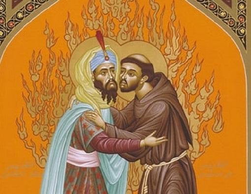 Ontmoeting H.Franciscus en de Sultan
