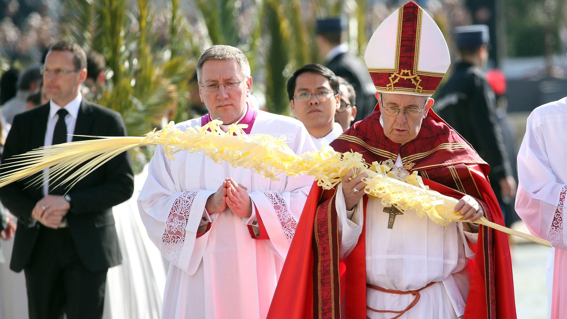 Paus Franciscus op Palmzondag 2019
