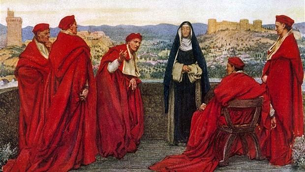 Catharina bij de paus