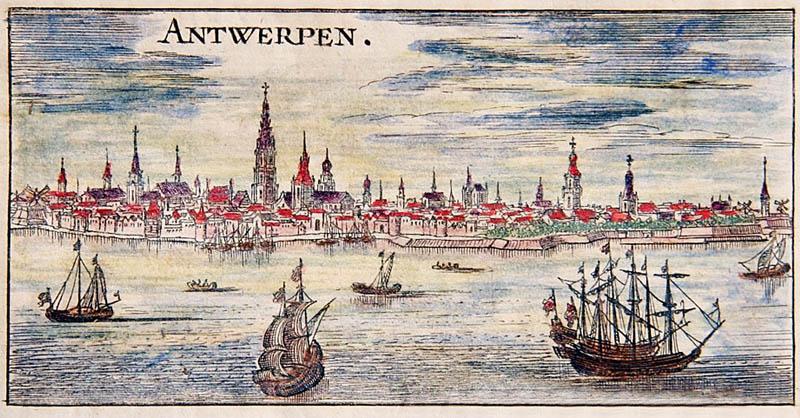 1726 – Zicht op Antwerpen