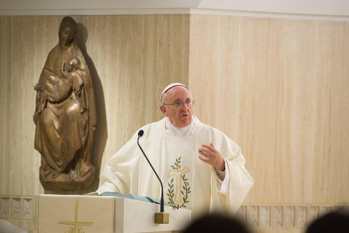 Paus in Santa-Marthahuis