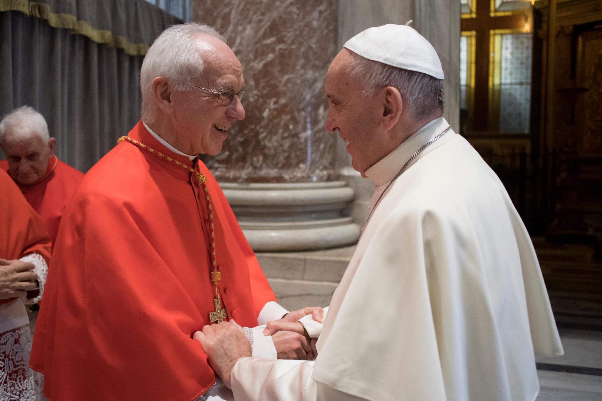 Paus Franciscus met Kardinaal Jozef De Kesel