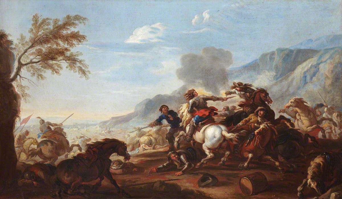 Courtois, Jacques, 1621-1676; A Battle Scene