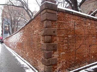 De muur aan de Prince en Mott Streets in New York