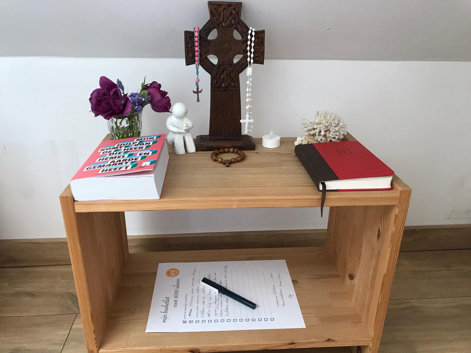 Gebedshoekje van een Kisi