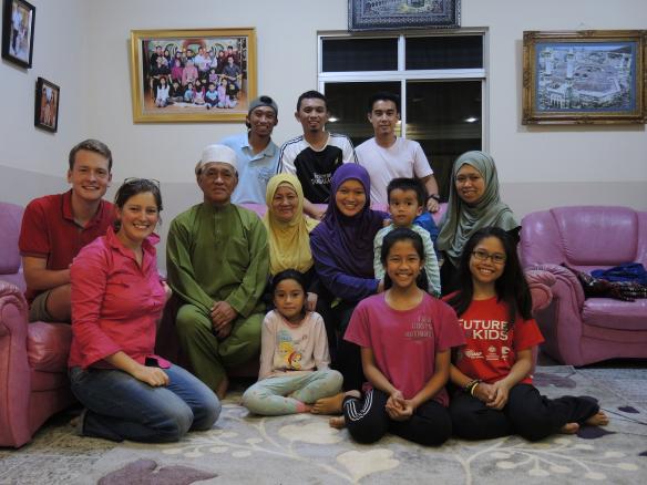 Bij een gezin in Brunei