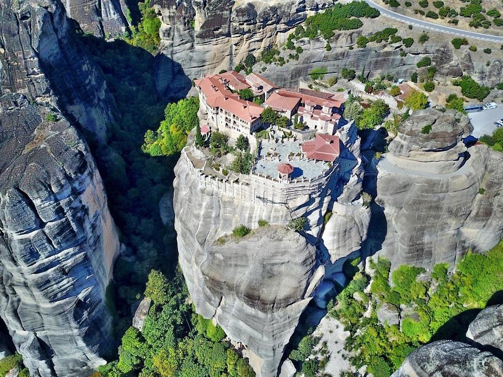 Een klooster op de Athosberg