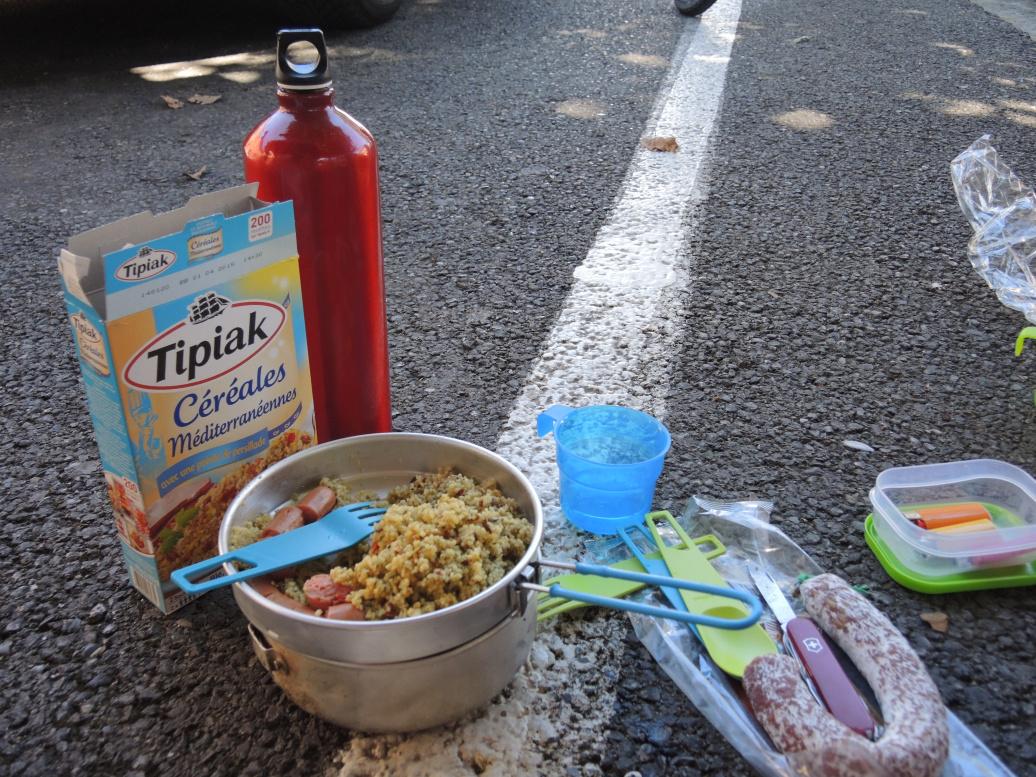 Een lunch onderweg...