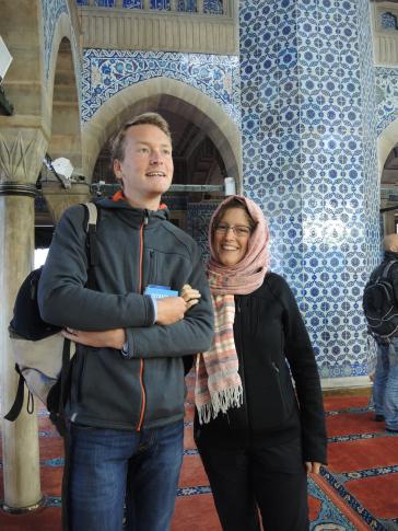 In een moskee in Istamboel