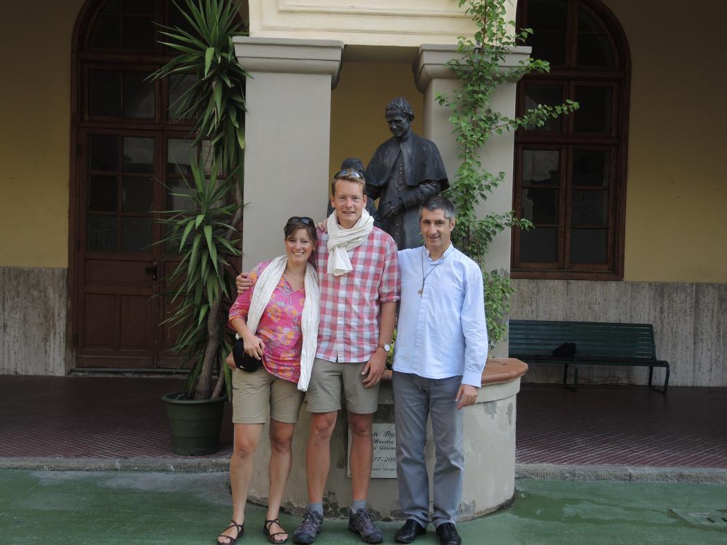 In la Spezia bij pater salesiaan Fabrizio