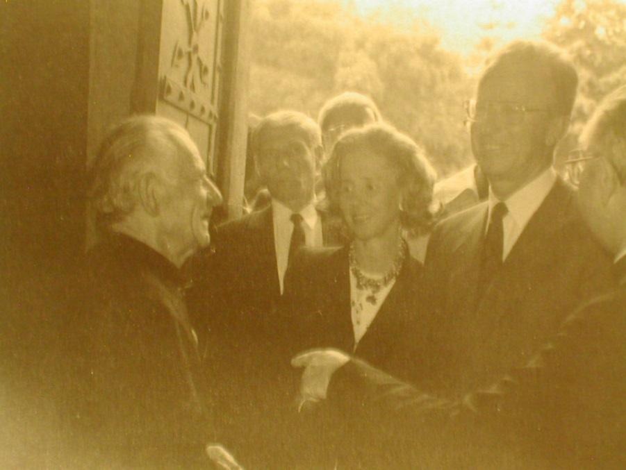 Ontmoeting met het koningspaar in 1990