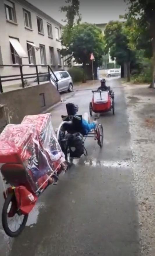 En maar fietsen...