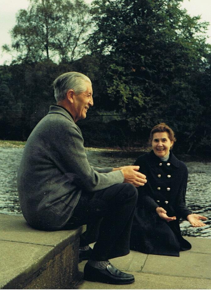 Kardinaal Suenens en Veronica O'Brien