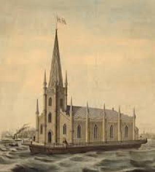 Vlottende kerk in New York 19de eeuw