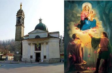 Santuario della madonna delle rose in Albano Sant'Alessandro