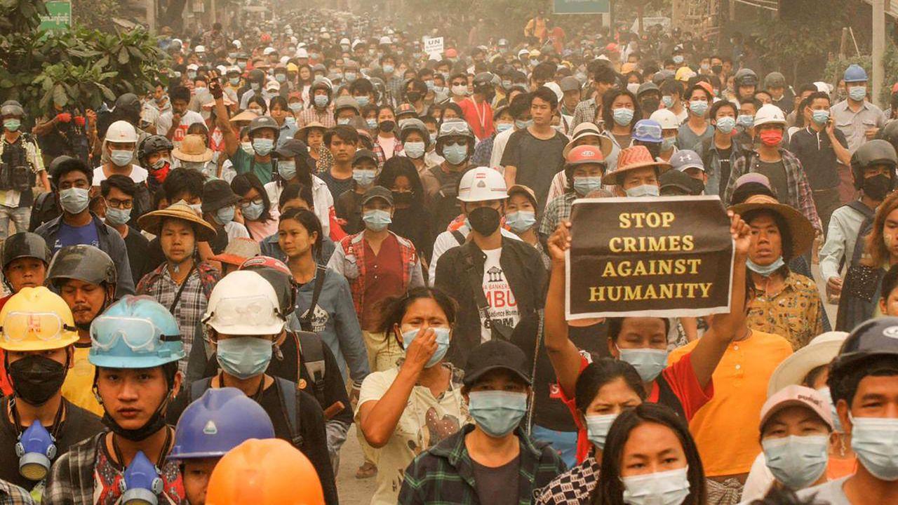Protesten in Birma
