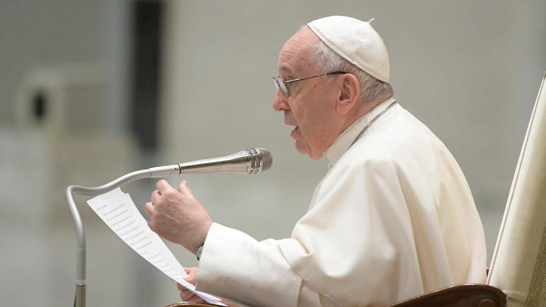 Paus Franciscus tijdens generale audiëntie 5
